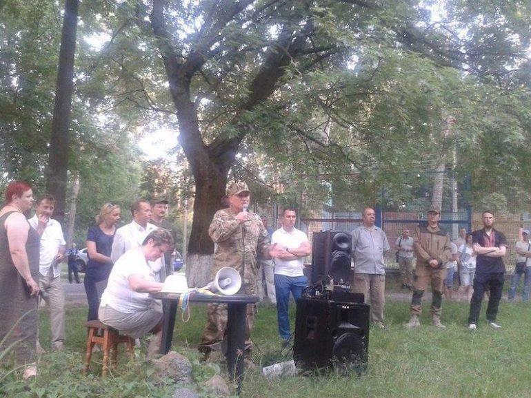 23 червня активісти Добровольчого Руху ОУН відвідали збори місцевої громади селища Водогін