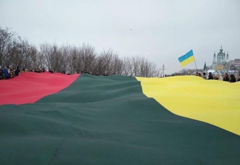 Акція з нагоди 100-річчя незалежності Литви
