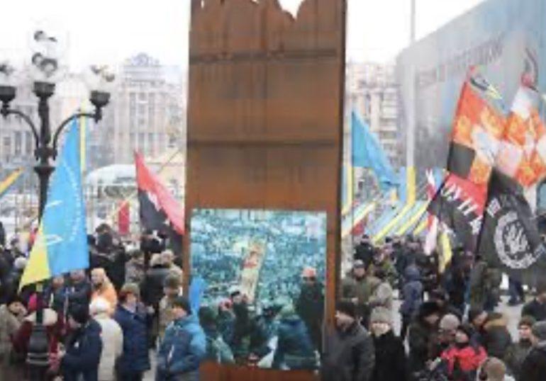 """Флешмоб """"Смерть Росії"""" у Києві"""
