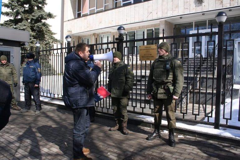 Акція біля посольства Польщі проти антиукраїнських провокацій