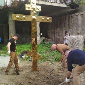 Встановлення хреста на Поштовій площі