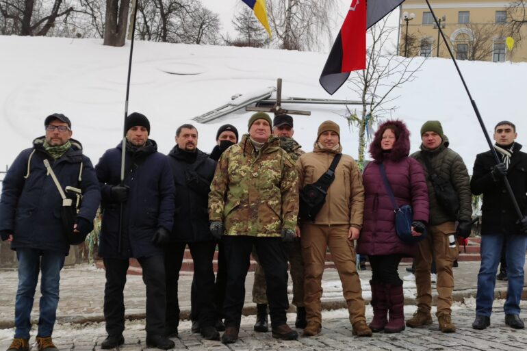 Добровольчий Рух ОУН вшанував пам'ять Героїв Небесної Сотні!